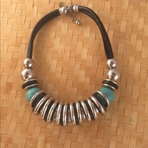 Jewelry - Silver and Turquoise Statement Neckace